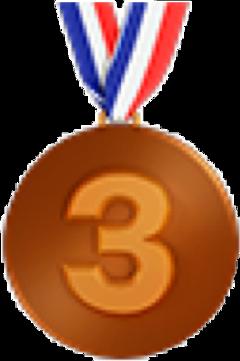 medaille emoji bronze bronce france