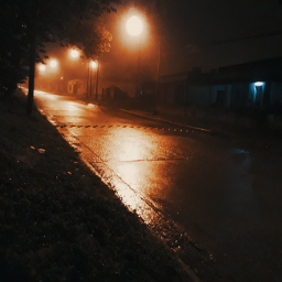 freetoedit rainy deserted street 5a.m