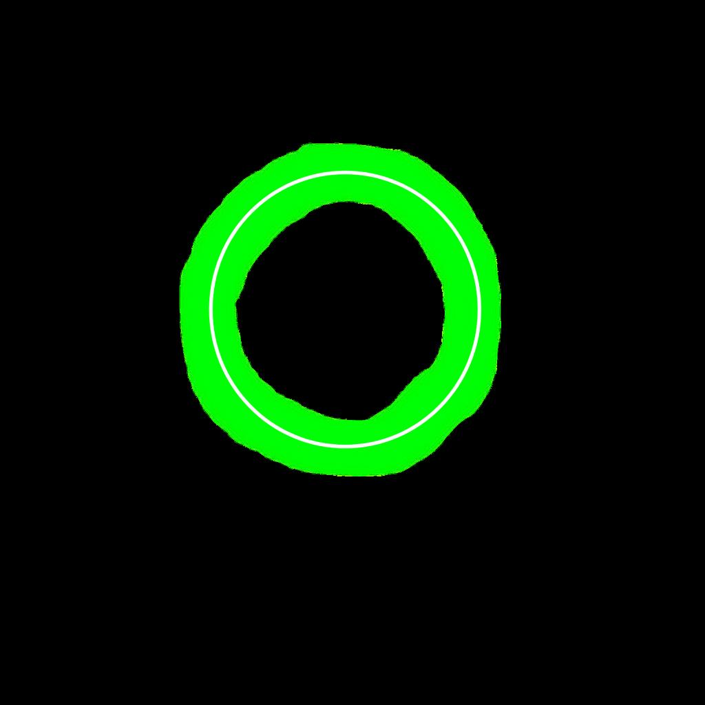 circle neon green aesthetic
