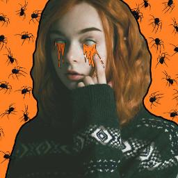 spookyspiders october edit halloween grimeart
