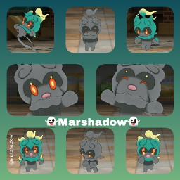 freetoedit marshadow pokemon pokemonsunandmoon pocketmonster
