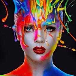 colorful colosplash portrait girl ilikethispicture freetoedit