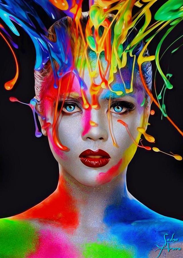 #colorful by @sadna2018 #colosplash #portrait #girl #ilikethispicture #freetoedit