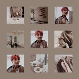 jungkook kookie jeonjungkook bts kpop brown tan white pink black clothes aesthetic edit