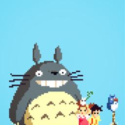 myneighbortotoro totoro 8bit pixel hayaomiyazaki