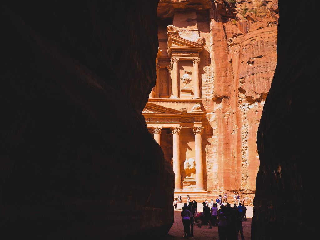 The Temple of Petra.  #freetoedit #nature#travel #people #summer #photography #interesting #colorful #colorsplash #blackandwhite