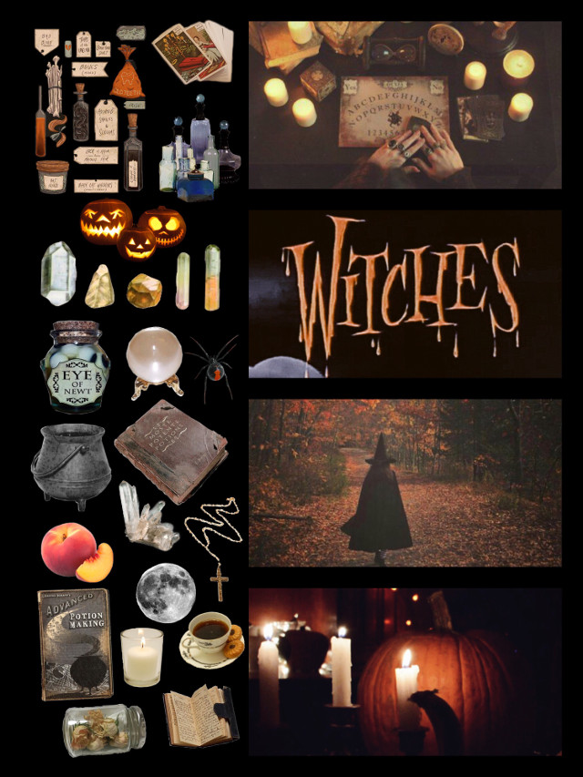 Halloween part 2  • • #witchcraft #aesthetic #moodboard #witches  #freetoedit