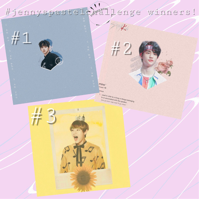 #jennyspastelchallenge contest winners!  -congrats to:     • 1st place: @taecookies     • 2nd place: @taehyungstoast     • 3rd place: @s-live02   - to the winners: leave comments on this post of what you would like your prizes to look like/who you want in them. If you forgot what the prizes are please refer back to the contest announcement post. You all did amazing and i really enjoyed seeing your work :)   - also great job to everyone else who participated! All of your edits were amazing and i had a really hard time choosing between them! I hope you enjoyed my first contest!