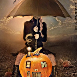 freetoedit pumpkin house umbrella swirlsky irctheperfectpumpkin