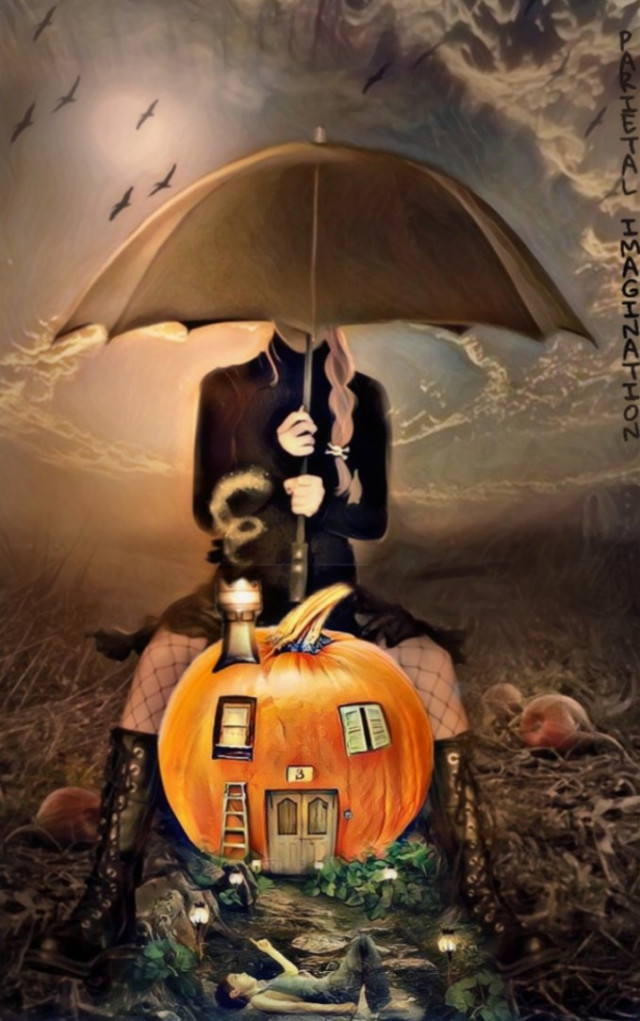 🏆🏆4TH PLACE PERFECT PUMPKIN🏆🏆  (Thank you so much to everyone for your amazing support and kindness! Always appreciated!)   EDIT BY: PARIETAL IMAGINATION ART  #Pumpkin #house #umbrella #swirlsky #boy #magicfx #fx #freetoedit  #irctheperfectpumpkin #theperfectpumpkin