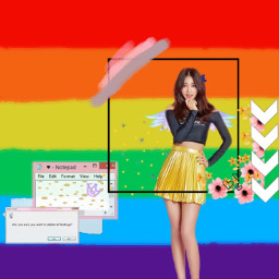 freetoedit rainbow colorful twice tzuyu