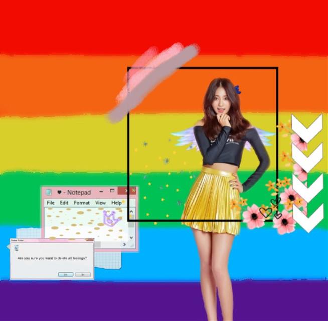 #freetoedit #rainbow #colorful #twice #tzuyu #tzuyuchou #kpop #tzuyutwice #purple  #blue #twicetzuyu #pink #flower #korea #paint #pop #red #orange #yellow #green