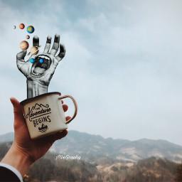 freetoedit coffee artist surreal manipulation