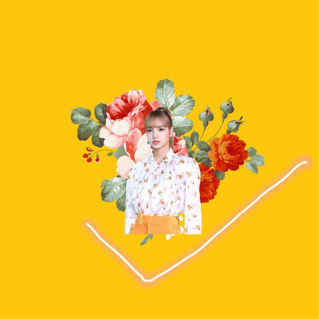 #freetoedit #aesthetic #yellowaesthetic #orangeaesthetic #lisa #blackpink