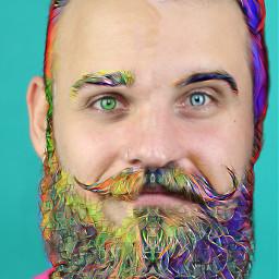 ircmovemberkickoff movemberkickoff freetoedit cutout rainbowbeard
