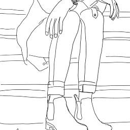 shoe drawing blackandwhite
