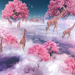 freetoedit fantasy surreal giraffe inthesky