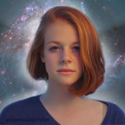 freetoedit girl galaxy stars beautiful