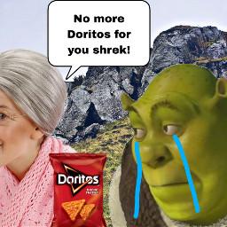 shrek granny doritos sad grandma freetoedit