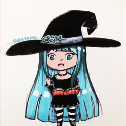 traditionalart myart2018 inktober2018 originalart witch