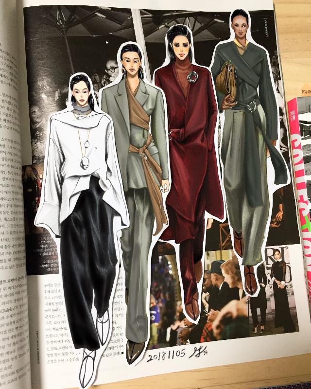 20181105 GIada 19s/s RTW Fashion art draw by insta Moons93(moon9508)