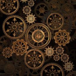 freetoedit background steampunk gears