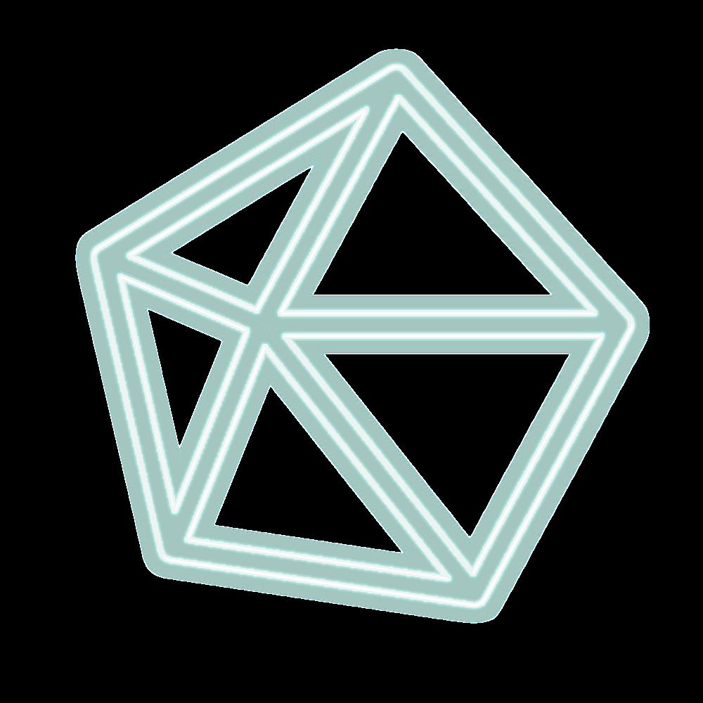 🔼🔽 polygon triangle lines geometry neon glow light ne
