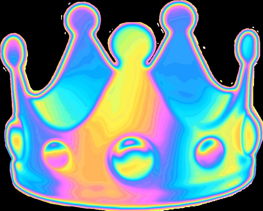 holographic holo crown emoji queen random funny selfie... 670ae7de4