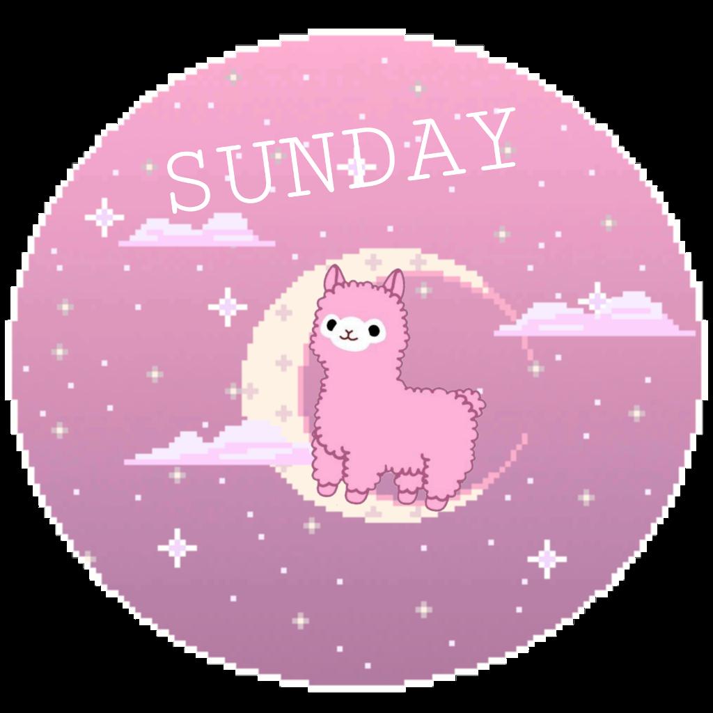 Sunday Sticker #sunday #dayofweek #purple #pink