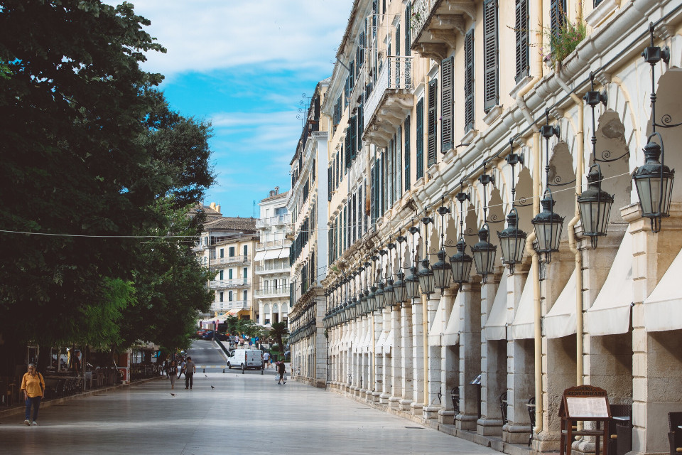 Back in the old days, this was where the rich came for shopping. #corfu #freetoedit