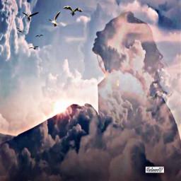 lady mountain clouds emotion freedom freetoedit