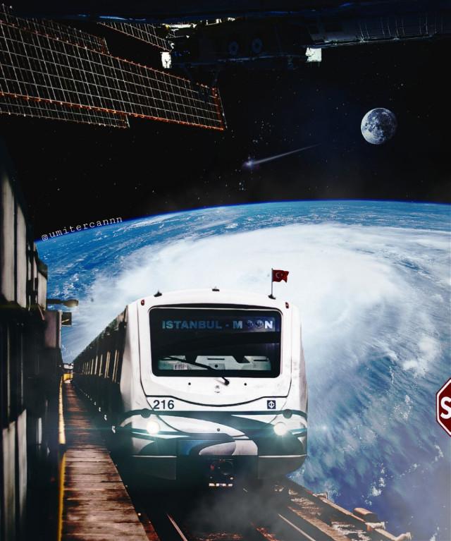 ⏩ istanbul moon line 😄🌚🚉🚄 ⏩ istanbul ay hattı 😄🌚🚉🚝🚄  #myedit #nature #interesting #sapce #surreal #metro #transportation #surrealism #fantasy #fantastic #photography #awsomeedit #colorful #doubleexposure #moon #earth #interesting #awesome_surreal #theuniversalart #edit_greatshots #edit_grams #thegraphicspr0ject #enter_imagination #VisualMobs #Visual_Creatorz #edit_perfection #xceptionaledits #sombresociety #hashtagler #creartmood #creative_ace #freetoedit