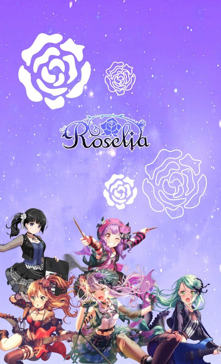 バンドリ Roselia 宇宙柄 壁紙 ロック画面 このりんりんがりんりんじゃ