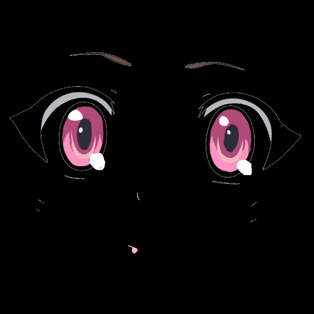 Anime Eyes AnimeEyes PinkEyes CuteSticker Sticker Anime...