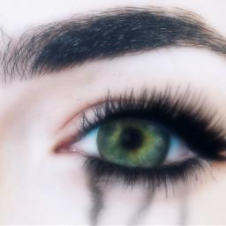 eye eyelashes eyelashextension mascara cry freetoedit