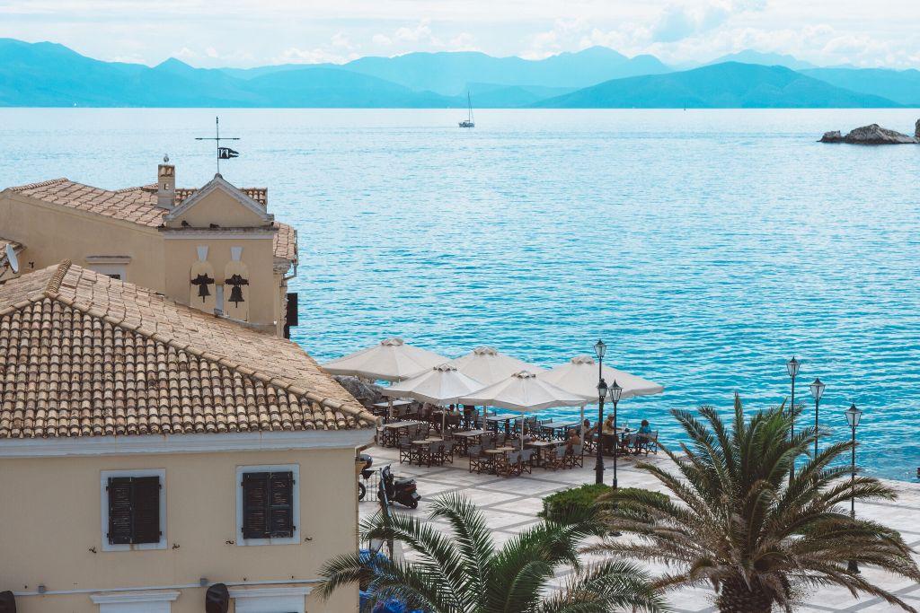 Perfect lunch venue. #corfu