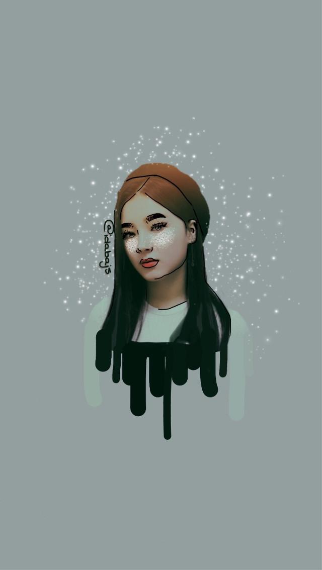 Drawed . ( ͡° ͜ʖ ͡°)  Model: Nancy - Momoland                                                                Well you know. . You CAN like but . . Yeah . . Just so you know . . . .     #drawing #drawn #art #kpop #momoland #korea #people #edit #nancy #nancymomoland #like #tumblr #aesthetic #? #black #white #beautiful #girl (・ω・)ノ