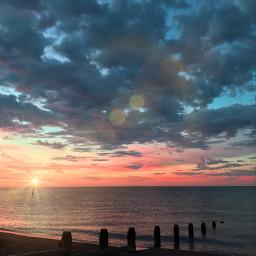 lensflare freetoedit sea sunset