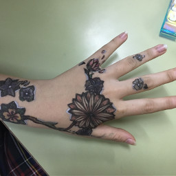 kosetsart hand tattoo tattooart faketattoo