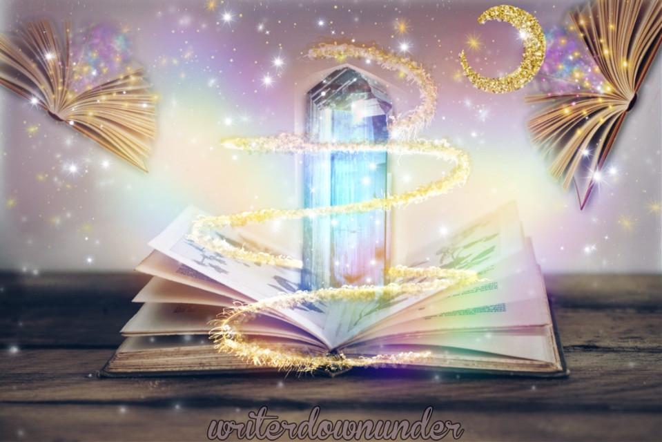 #freetoedit #magic #crystals #book #writer #writersofinstagram #writerslife #writerdownunder #picsart #pics_art_ist #art #digitalart #visualsoflife #editedbyme #remixthis #dailychallenge @picsart