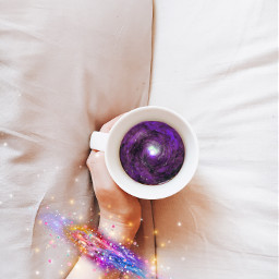 freetoedit galaxy galaxyspiral galaxysticker coffee