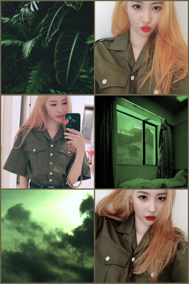 Model: Sunmi  #green #kpop #sunmi #collage #tumblr