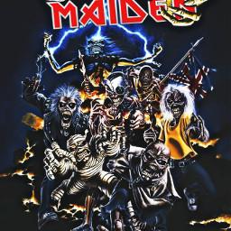 ironmaiden eddiethehead heavymetal band sticker freetoedit