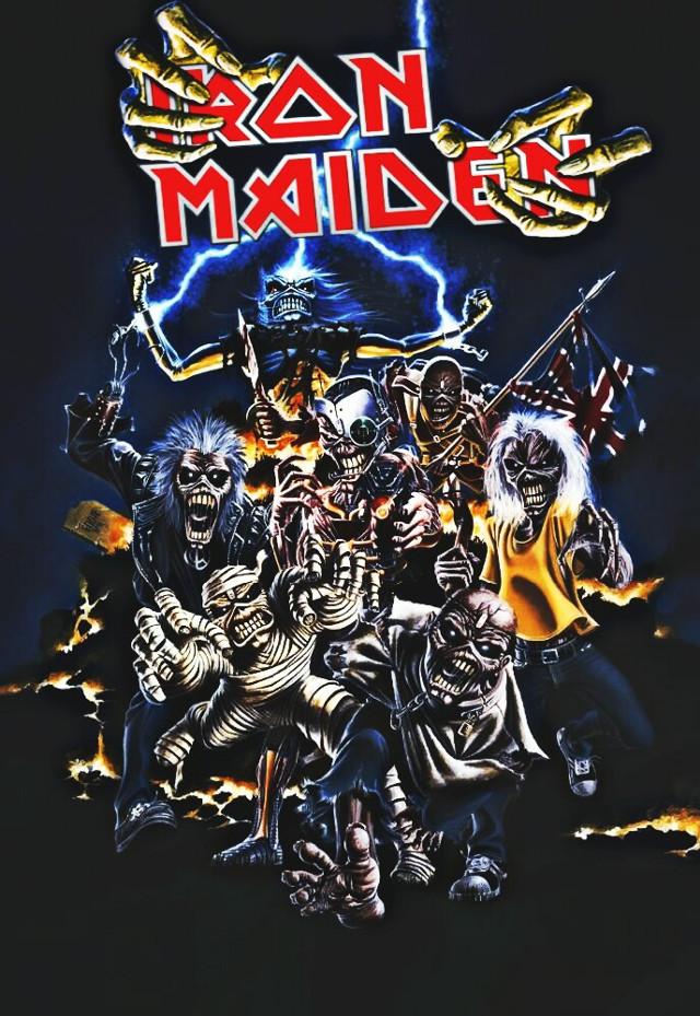 #ironmaiden #eddiethehead #heavymetal #band #sticker #wallpaper #logo #art #freetoedit