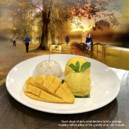 mango pudding autumnart freetoedit