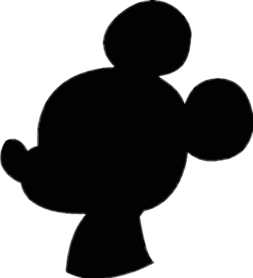 Image result for mickey shadow png