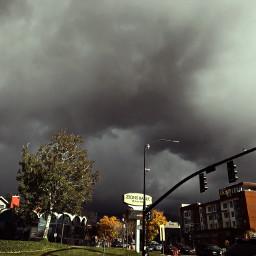 darkclouds stormclouds sky goldenhour thanksgiving