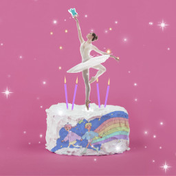 freetoedit remixit balerina baking cake