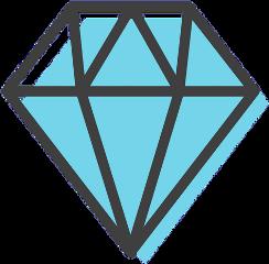 freetoedit diamond sticker blue