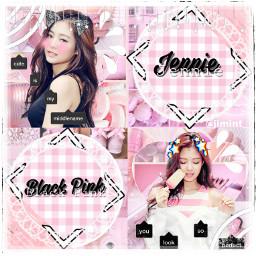 freetoedit pink jennie solo kpop
